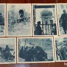 Militaria: 7 POSTALES DE LA DIVISION AZUL EN RUSIA, GENERAL MOSCARDO, SON DE COLOR AZUL CLARO, TAMAÑO 10 X 14,8. Lote 163020906