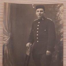 Militaria: FOTOGRAFIA POSTAL DE MILITAR DEL AÑO 1919. HECHA EN STUDIO RAUL DE MADRID. CUERPO INGENIEROS. Lote 163045470
