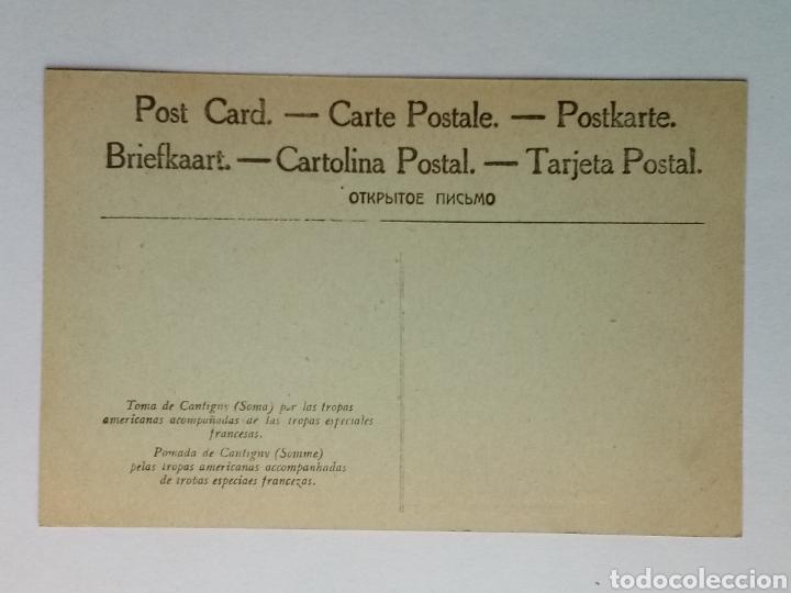 Militaria: Postal I Guerra Mundial Toma de Cantigny Tropas Americanas y Francesas - Foto 2 - 163168077
