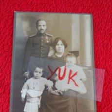 Militaria: FOTOGRAFIA DE MILITAR CONDECORADO EN FAMILIA - MAYO 1915 - FOTOGRAFO SANCHEZ ( ALICANTE ). Lote 163343406