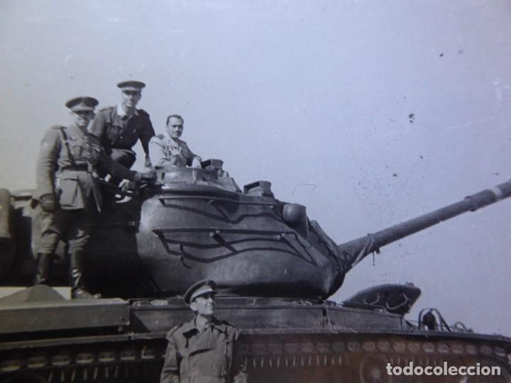FOTOGRAFÍA CARRO DE COMBATE DEL EJÉRCITO ESPAÑOL. (Militar - Fotografía Militar - Otros)