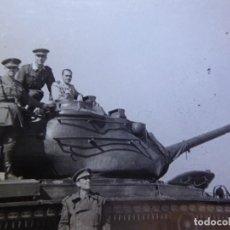 Militaria: FOTOGRAFÍA CARRO DE COMBATE DEL EJÉRCITO ESPAÑOL.. Lote 163615962