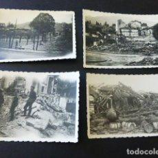 Militaria: GUERNICA VIZCAYA GUERRA CIVIL CONJUNTO DE 7 FOTOGRAFIAS POR SOLDADO LEGION CONDOR 6 X 9 CMTS. Lote 164762790