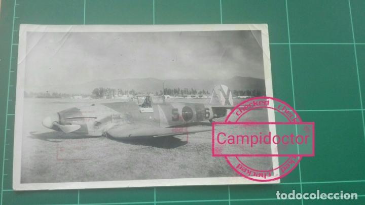 AVIACIÓN. ACCIDENTE HEINKEL 5-66 (Militar - Fotografía Militar - Guerra Civil Española)