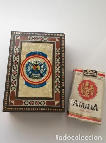 Militaria: Caja tabaquera Unifil Líbano Militar - Foto 3 - 164917514