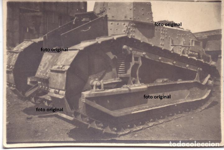 CARRO DE COMBATE LIGERO FT-17 FRANCIA REPUBLICANO GUERRA CIVIL (Militar - Fotografía Militar - Guerra Civil Española)