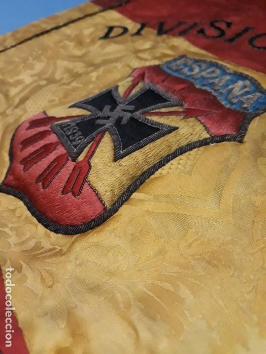 Militaria: GUION DE LA DIVISION AZUL DE LA INSPECCION PROVINCIAL DE COMBATIENTES - Foto 5 - 165319942