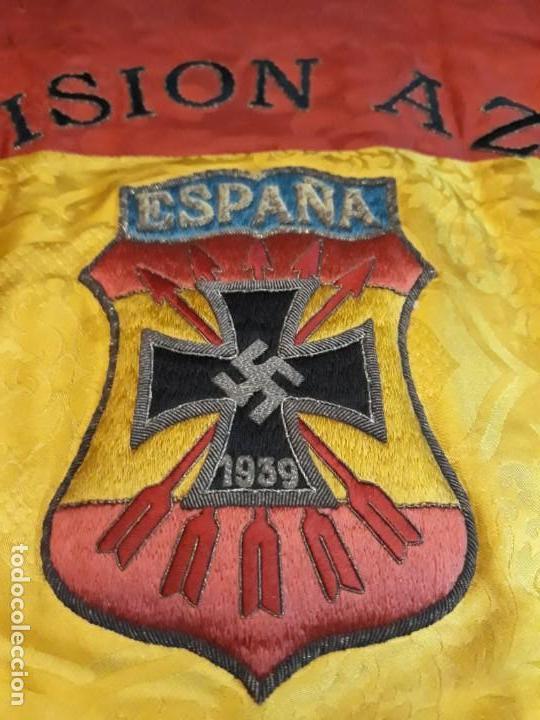 GUION DE LA DIVISION AZUL DE LA INSPECCION PROVINCIAL DE COMBATIENTES (Militar - Fotografía Militar - Otros)