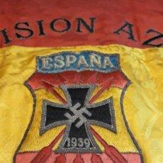 Militaria: GUION DE LA DIVISION AZUL DE LA INSPECCION PROVINCIAL DE COMBATIENTES. Lote 165319942