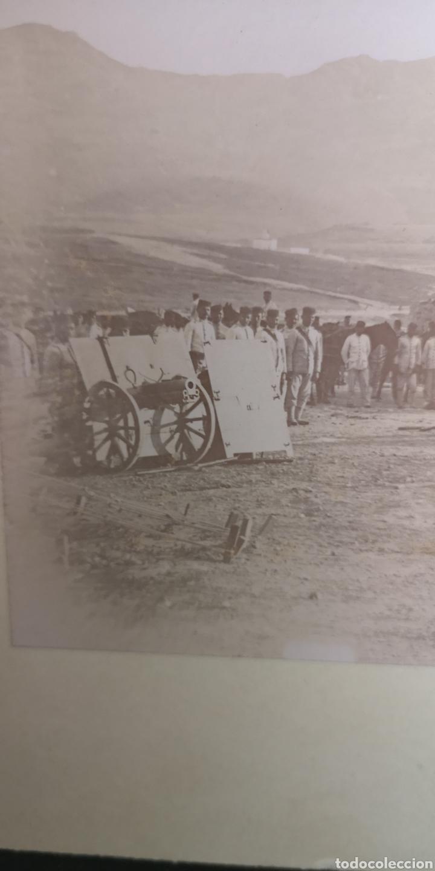 Militaria: Fotografía de regimiento de montaña, creo que es en Melilla, 33cm x 24 cm el total - Foto 2 - 165470649
