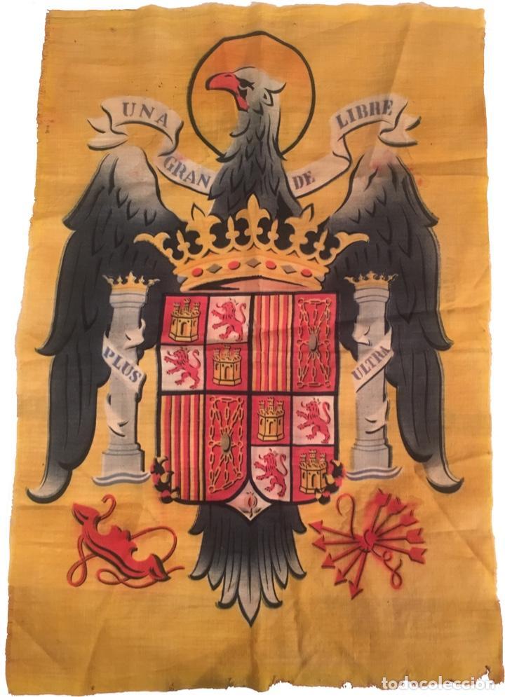 BANDERA ESPAÑA ANTIGUO RÉGIMEN AÑOS 40 POSIBLE PROCEDENCIA MILITAR 60 X 90 CM (Militar - Fotografía Militar - Guerra Civil Española)