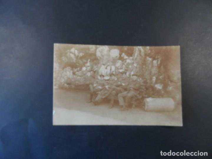 Militaria: 4 SOLDADOS IMPERIALES ALEMANES SENTADOS EN UN BANCO. II REICH. AÑOS 1914-18 - Foto 2 - 165616930