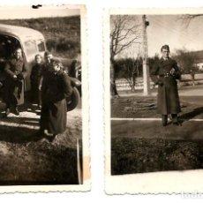 Militaria: LOTE 2 FOTOGRAFIAS DE MARZO DE 1938 DE INTÉRPRETES ALEMANES EN BURGOS - FECHADA PARTE POSTERIOR. Lote 165760338