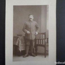 Militaria: SOLDADO IMPERIAL ALEMAN POSANDO EN ESTUDIO. II REICH. AÑOS 1914-18. Lote 165761350