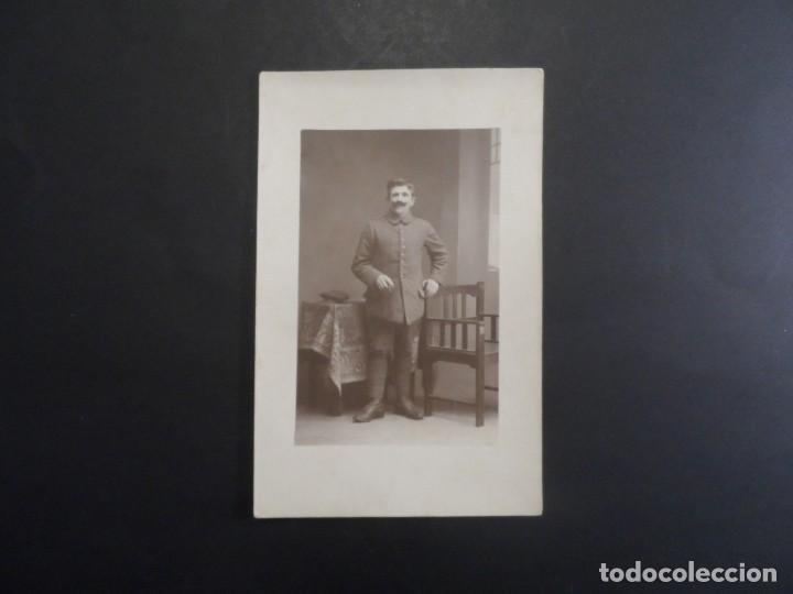 Militaria: SOLDADO IMPERIAL ALEMAN POSANDO EN ESTUDIO. II REICH. AÑOS 1914-18 - Foto 2 - 165761350
