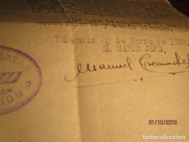 Militaria: PILOTO DE AVIACION FUERZAS AEREAS EN GUERRA CIVIL ESPAÑA TENIENTE INCORPORACION 1939 EN VALENCIA - Foto 4 - 173191052