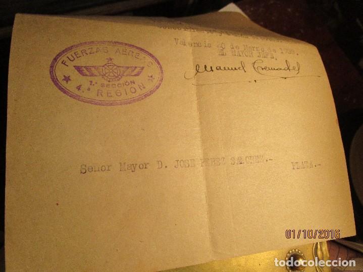 Militaria: PILOTO DE AVIACION FUERZAS AEREAS EN GUERRA CIVIL ESPAÑA TENIENTE INCORPORACION 1939 EN VALENCIA - Foto 8 - 173191052