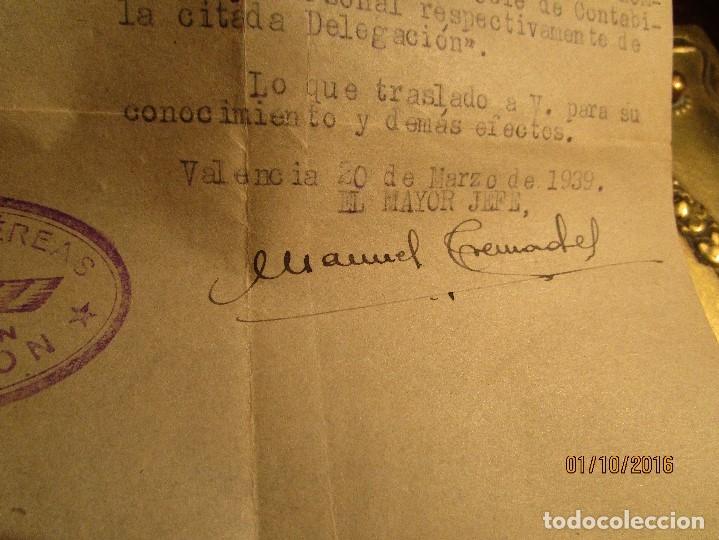 Militaria: PILOTO DE AVIACION FUERZAS AEREAS EN GUERRA CIVIL ESPAÑA TENIENTE INCORPORACION 1939 EN VALENCIA - Foto 10 - 173191052
