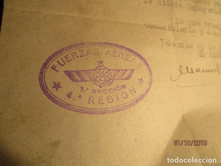 Militaria: PILOTO DE AVIACION FUERZAS AEREAS EN GUERRA CIVIL ESPAÑA TENIENTE INCORPORACION 1939 EN VALENCIA - Foto 5 - 173191052