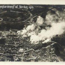 Militaria: FOTOGRAFÍA ORIGINAL AÉREA PRIMERA GUERRA MUNDIAL. BOMBARDMENT OF VERDUN. 1916. BOMBARDEO.. Lote 165848946