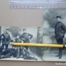 Militaria: DOS FOTOGRAFÍAS DE SOLDADOS DEL REGIMIENTO ZAMORA Nº 8 (EL FIEL), LUGO. ALFONSO XIII.. Lote 165887266