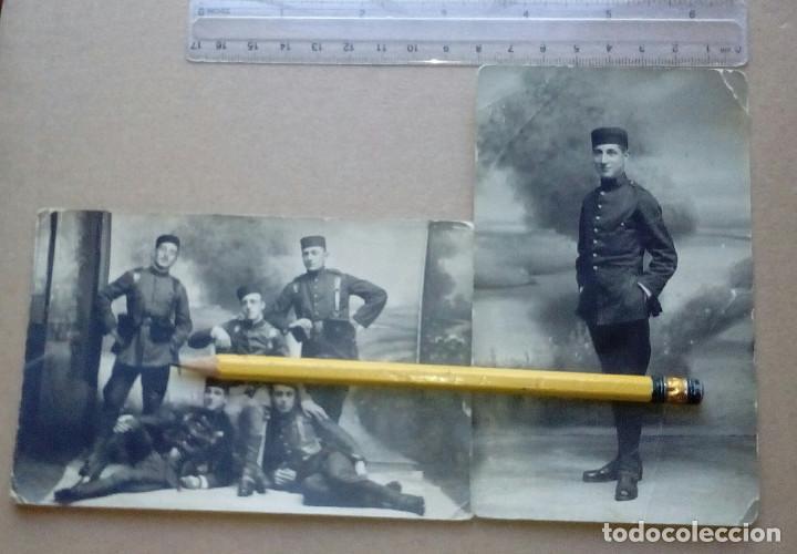 Militaria: Dos fotografías de soldados del Regimiento Zamora nº 8 (El Fiel), Lugo. Alfonso XIII. - Foto 5 - 165887266