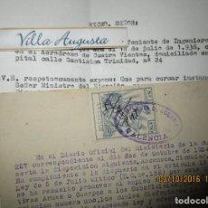 Militaria: ASCENSO ALFEREZ PILOTO AVIACION JEFE ESTADO MAYOR COMISARIA GUERRA VALENCIA INDULTADO POR FRANCO. Lote 166138082