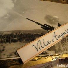 Militaria: GUERRA DE IFNI CASTILLEJOS 1957 1958 OFICIAL CON CAÑON ANTIAERO PILOTO EXCOMBATIENTE GUERRA CIVIL. Lote 166198546