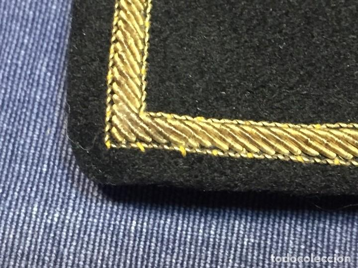 Militaria: hombreras tres estrellas capitan aviación en hilo de oro fieltro franco guerra civil españa s xx - Foto 17 - 166245310