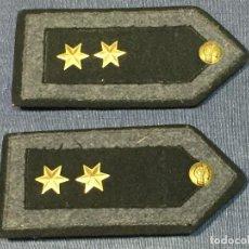 Militaria: HOMBRERAS FIELTRO AVIACIÓN TENIENTE ESTRELLA SEIS PUNTAS LATÓN DORADO GUERRA CIVIL FRANCO. Lote 166252234