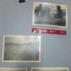 Militaria: LOTE FOTOS ANTIGUAS PLAYA SARDINERO SANTANDER 1961 OFICIAL DE AVIACION EN SANTANDER VIAJE RECREO. Lote 166387594