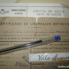 Militaria: LIBERACION INDULTO POR FRANCO PRISIONES TENIENTE PILOTO AVIACION GUERRA CIVIL PASTRANA VALENCIA. Lote 166498394