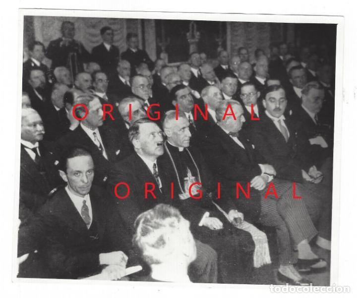 HITLER, GOEBBELS Y EL PAPA PIO XII. ESCRITO EN LA PARTE POSTERIOR (Militar - Fotografía Militar - II Guerra Mundial)