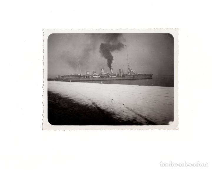 FRAGATA DE GUERRA ESPAÑOLA. ALMERÍA 1935. FOTO ABELLIN. CARTAGENA. 9 X 12 CM (Militar - Fotografía Militar - Guerra Civil Española)