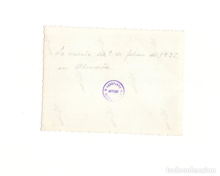 Militaria: FRAGATA DE GUERRA ESPAÑOLA. ALMERÍA 1935. FOTO ABELLIN. CARTAGENA. 9 X 12 CM - Foto 2 - 166623530