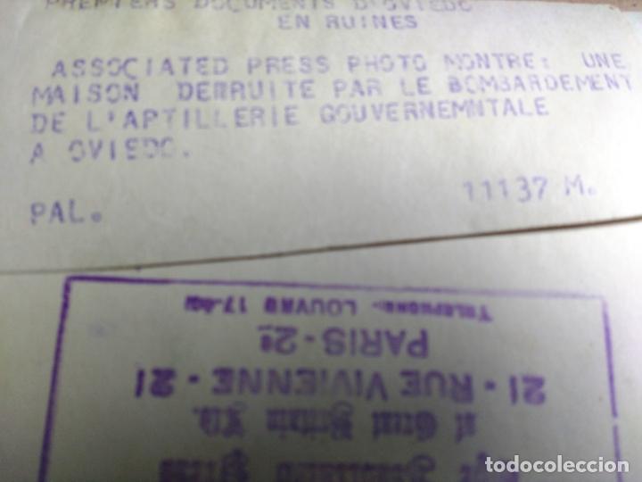 Militaria: GUERRA CIVIL ESPAÑOLA: OVIEDO, UNA CASA DESTRUIDA POR EL BOMBARDEO DE LA ARTILLERIA. 13/1/1937 - Foto 3 - 166780146