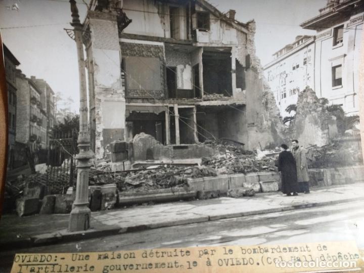 GUERRA CIVIL ESPAÑOLA: OVIEDO, UNA CASA DESTRUIDA POR EL BOMBARDEO DE LA ARTILLERIA. 13/1/1937 (Militar - Fotografía Militar - Guerra Civil Española)
