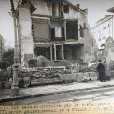Militaria: GUERRA CIVIL ESPAÑOLA: OVIEDO, UNA CASA DESTRUIDA POR EL BOMBARDEO DE LA ARTILLERIA. 13/1/1937. Lote 166780146