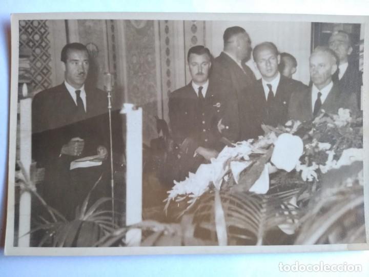ADOLF GALLAND, FOTO CON DISCURSO EN VELATORIO WERNER BAUMBACH (Militar - Fotografía Militar - II Guerra Mundial)