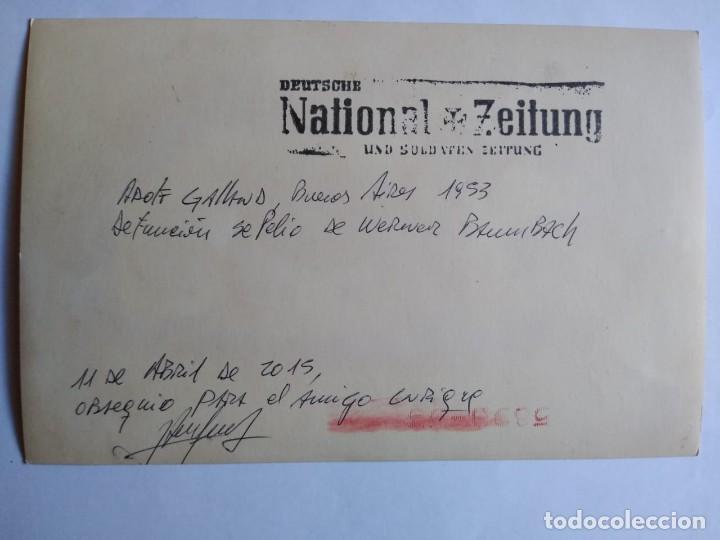 Militaria: ADOLF GALLAND, foto con discurso en velatorio Werner Baumbach - Foto 2 - 166818358