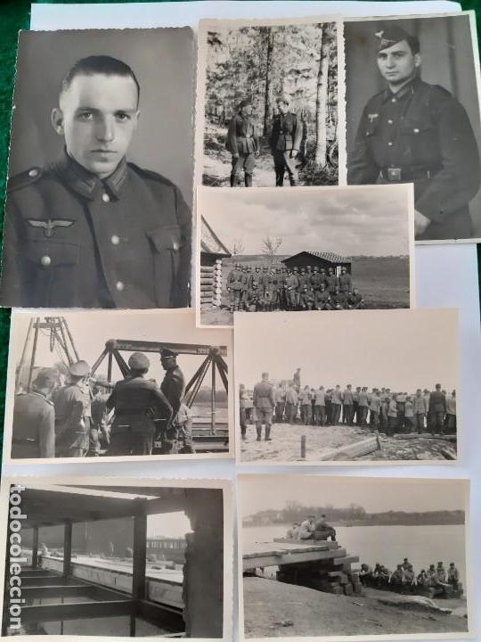 WW2. ALEMANIA. LOTE 8 FOTOFRAFIAS ORIGINALES ALEMANAS DE LA WW2 (Militar - Fotografía Militar - II Guerra Mundial)