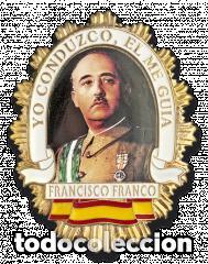 CHAPA CARTERA FRANCISCO FRANCO (Militar - Fotografía Militar - Otros)