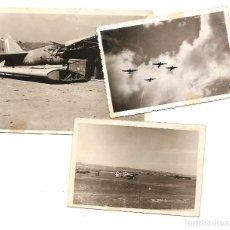 Militaria: LOTE 3 FOTOGRAFÍAS CAMPO DE AVIACIÓN NACIONAL EN BURGOS AÑO 1938 - ORIGINAL DE LA ÉPOCA. Lote 167536360