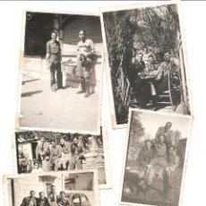 Militaria: LOTE 6 FOTOGRAFÍAS COMBATIENTES BANDO NACIONAL EN BURGOS FECHADAS EN 1938 - ORIGINAL DE LA ÉPOCA. Lote 167537572