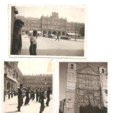 Militaria: LOTE TRES FOTOGRAFÍAS DE SALAMANCA, PLAZA MAYOR Y CATEDRAL CON DESFILE AÑO 1937 ORIGINAL ÉPOCA. Lote 167539628
