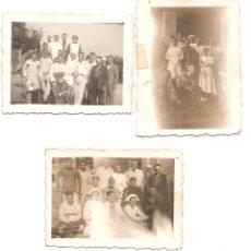 Militaria - LOTE TRES FOTOGRAFÁS HERIDOS EN EL HOSPITAL MILITAR DE VALLADOLID SEPTIEMBRE 1936 - ORIGINAL ÉPOCA - 167541232