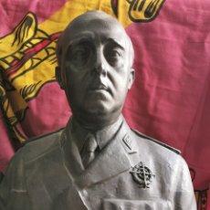 Militaria: BUSTO DE FRANCO EN BRONCE GRAN TAMAÑO. Lote 167916400