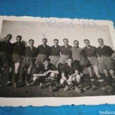 Militaria: FOTO DE 9 X 6 CM, QUILES JUGADOR DE FÚTBOL, DONDE HIZO LA MILI, 1 COMPAÑÍA VITORIA 1943. Lote 168098460