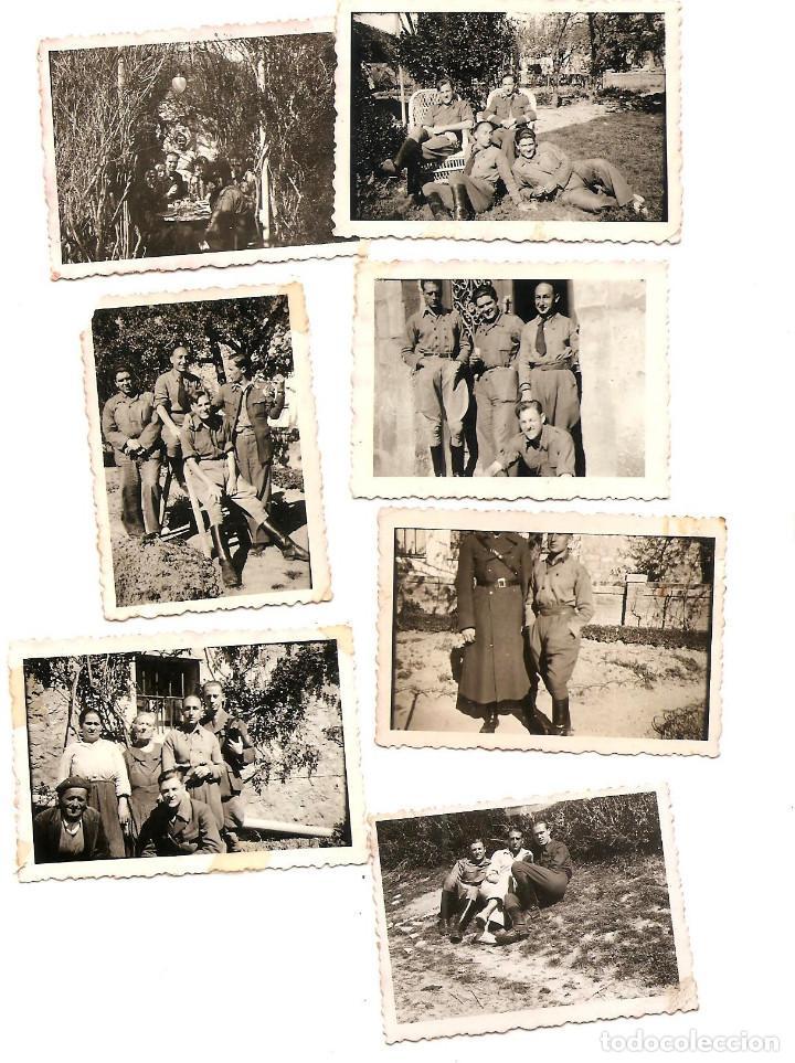 LOTE 7 FOTOGRAFÍAS MILITARES EN LAS HUELGAS (BURGOS) FECHADAS ABRIL DE 1938, ORIGINAL ÉPOCA (Militar - Fotografía Militar - Guerra Civil Española)