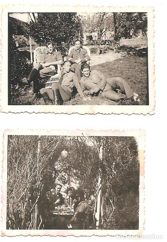 Militaria: LOTE 7 FOTOGRAFÍAS MILITARES EN LAS HUELGAS (BURGOS) FECHADAS ABRIL DE 1938, ORIGINAL ÉPOCA - Foto 2 - 168469336